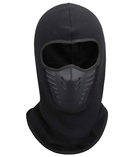 Fantastic Zone Balaclava Face Mask, Winter Fleece Windproof Ski Mask for Men and Women,Black,One...