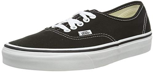 Vans Unisex Authentic Solid Canvas Skateboard Sneakers (6.5 D(M) US, Black)