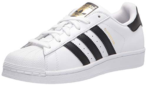 adidas Originals Kids' Superstars Running Shoe, White/Black, 4 M US