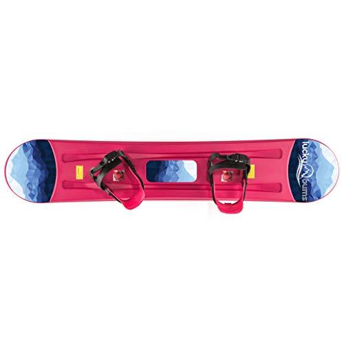Lucky Bums Kids Beginner Plastic Snowboard, 95cm, Blue
