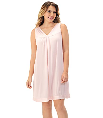 Exquisite Form Women's Coloratura Sleeveless Short Gown, Pink Champagne, Small