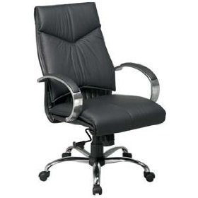 OSP8201 - Office Star Deluxe Mid-Back Executive Leather Chair