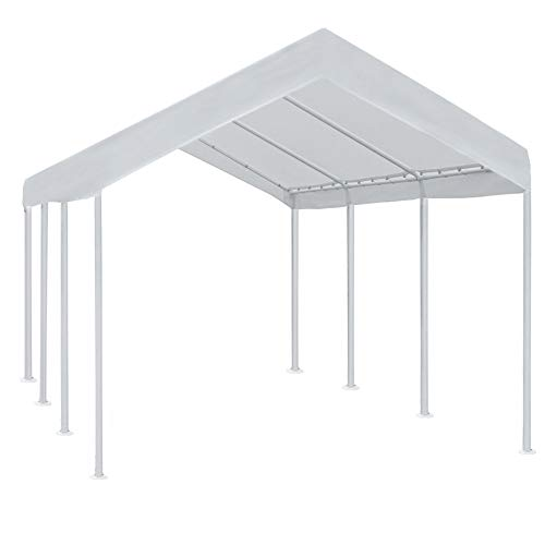 Abba Patio 10 x 20 ft Outdoor Heavy Duty Carport Car Canopy Portable Steel Garage Tent Boat Shelter...