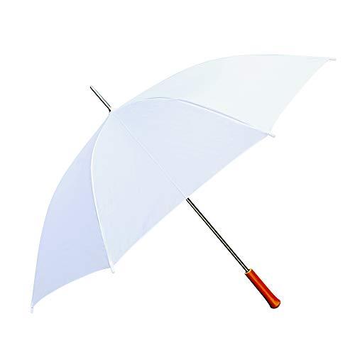 Wedding Umbrella - White - 60' Across - Rip-Resistant Polyester - Manual Open - Light Strong Metal...