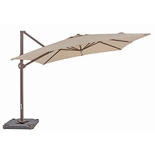 TrueShade Plus US108PAB Cantilever Square Umbrella, 10' x 10', Antique Beige