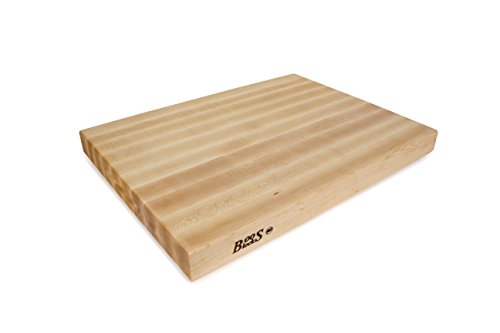 John Boos Block RA03 Maple Wood Edge Grain Reversible Cutting Board, 24 Inches x 18 Inches x 2.25...