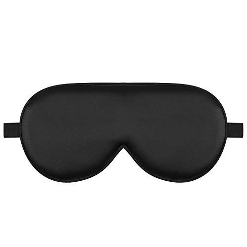 Alaska Bear Natural Silk Sleep Mask, Blindfold, Super Smooth Eye Mask (Black)