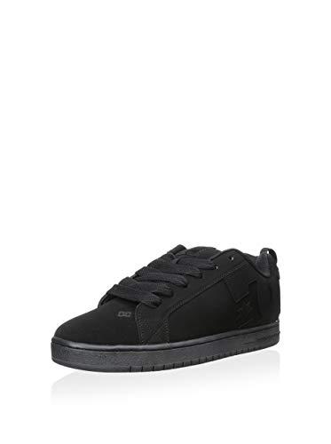 DC Men's Court Graffik Skate Shoe, Black/Black/Black, 12 M US