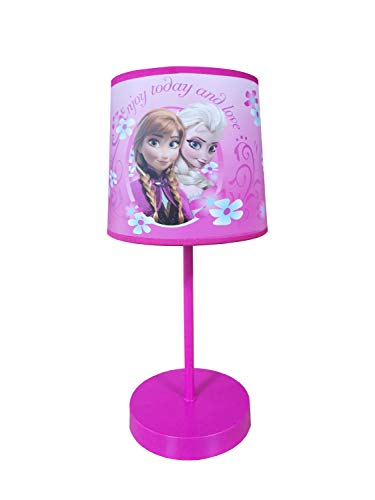 Disney Frozen Stick Table Kids Lamp With Pull Chain, Themed Printed Decorative Shade