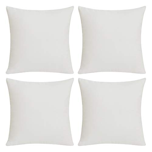 Deconovo 4 PCS Pillow Covers No Insert Faux Linen Cushion Covers Blank Pillow Covers Throw Pillow...