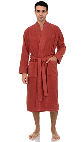 TowelSelections Men's Robe, Turkish Cotton Terry Kimono Bathrobe X-Large/XX-Large Ginger Spice