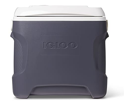 Igloo 28 Quart Iceless Thermoelectric 12 Volt Portable Ice Chest Beverage Cooler, Silver