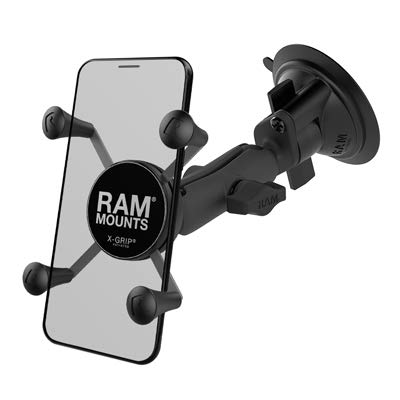 RAM X-Grip Phone Mount with Twist-Lock Suction Cup Base