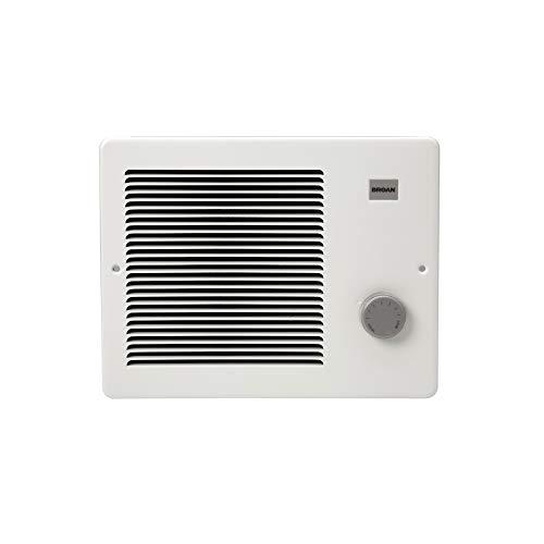 Broan-NuTone 174 Painted Grille Wall Heater, 750/1500 Watt 120 VAC, White Enamel Steel