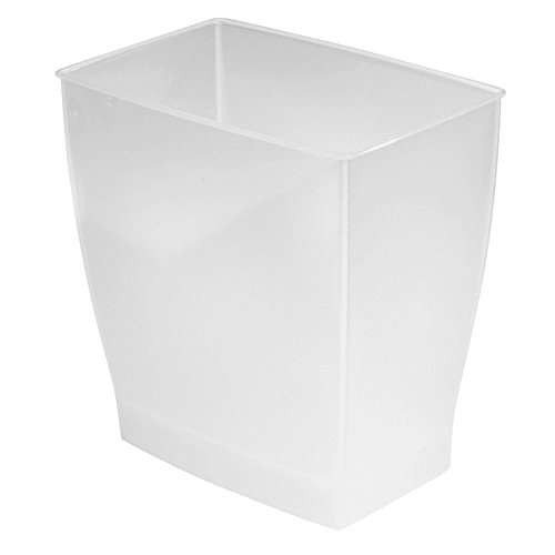 iDesign 64720 Spa Rectangular Trash Can, Waste Basket Garbage Can for Bathroom, Bedroom, Home...