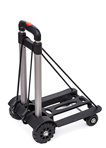 Anleolife Folding Carts with 4 Wheels Grocery Travel Dolly Back Saver Luggage Carts Car Seat Carrier...