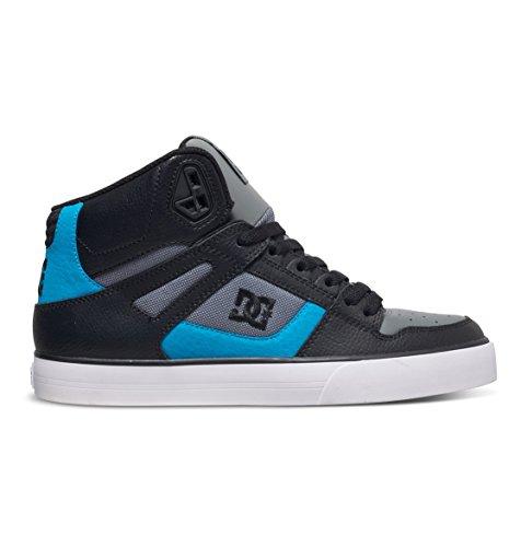 DC Men's Spartan High WC Skate Shoe, Red/Grey/Black, 13 M US
