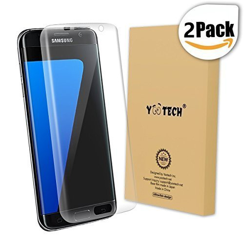 Galaxy S7 Edge Screen Protector [Full Coverage],Yootech [2-Pack] [Anti-Bubble] [HD Clear] Curved...