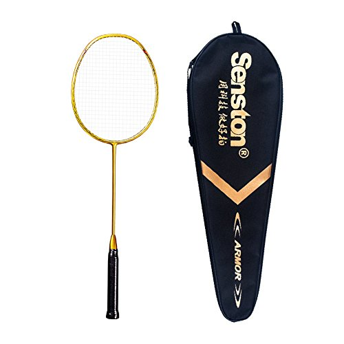 Senston N80 Graphite Single High-Grade Badminton Racquet, Professional Carbon Fiber Badminton...