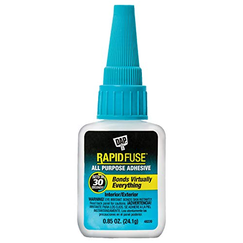 DAP 7079800155 00155 0.85 oz Rapid Fuse Fast Curing All Purpose Adhesive, Clear