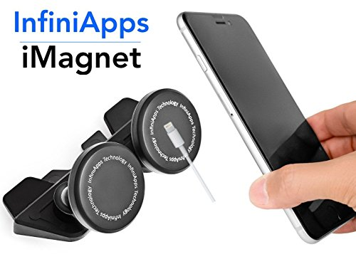 [Maker of iMagnet] Car Mount, infiniapps DuoMount [Magnetic Mount]. The Original, Best Patented CD...