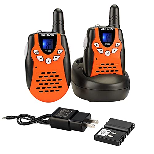 Retevis RT-602 Rechargeable Walkie Talkies for Kids,Toys with Charger Adapter 22 CH Flashlight,6-12...