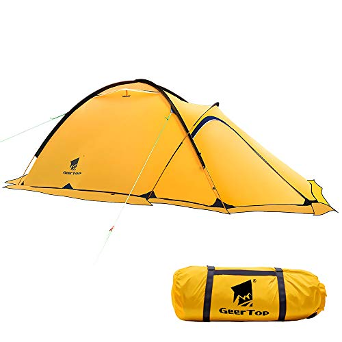Geertop Portable 2 Person 4 Season Camp Tent Waterproof Backpacking Tent Double Layer All Weather...