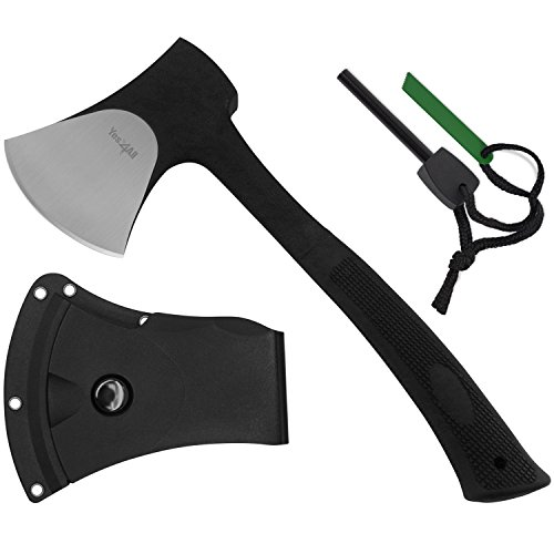 Yes4All Special Sales Outdoor Camping Hunting Survival Steel Multi Functional Axe w/Sheath H105 (Axe...