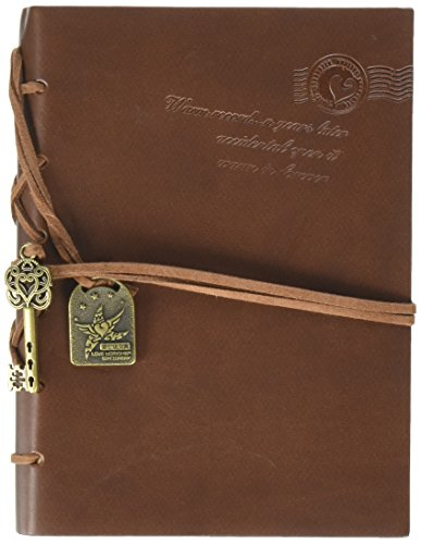 EvZ Vintage Journal Notepad String Key Classic Leather Notepad (BC-5642)