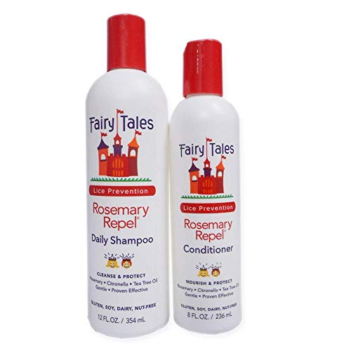 Fairy Tales Rosemary Repel Daily Kid Shampoo (12 Fl Oz) & Conditioner (8 Fl Oz) Duo for Lice...
