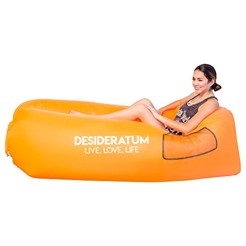 Air Lounger, Portable Air Bed for Indoor and Outdoor, Air Hammock, Inflatable Lounger with Carry...