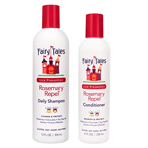 Fairy Tales Rosemary Repel Lice Shampoo - Daily Kids Shampoo (12 Fl Oz) & Conditioner (8 Fl Oz) Duo...