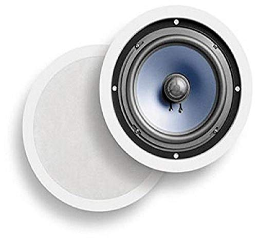 Polk Audio RC80i 2-way Premium In-Ceiling 8' Round Speakers, Set of 2 Perfect for Damp and Humid...