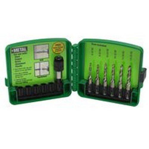 Greenlee Drill/Tap Bit Set Drill/Tap 6 Pc