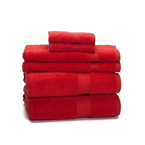 900 GSM 100% Egyptian Cotton 6-Piece Towel Set - Premium Hotel Quality Towel Sets - Heavy Weight &...