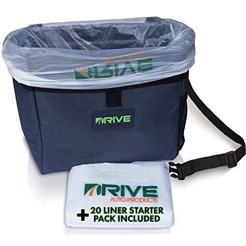 Car Trash Can and Garbage Bag Set: Leak Proof Trash Container with Lid and Accessories to Keep Your...