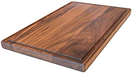 Large Walnut Wood Cutting Board by Virginia Boys Kitchens - 17x11 American Hardwood Chopping and...