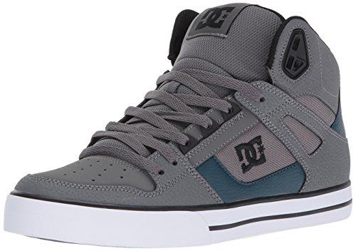DC Shoes Men's DC Spartan High WC Skate Shoes Skateboarding, Red/Grey/Black, 13 M US