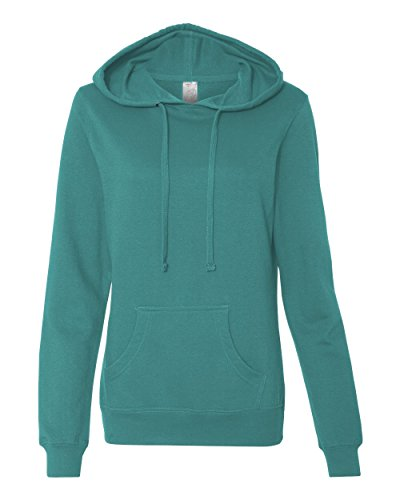 Independent Trading Co. Womens Lightweight Pullover Hooded Sweatshirt (SS650) Teal L