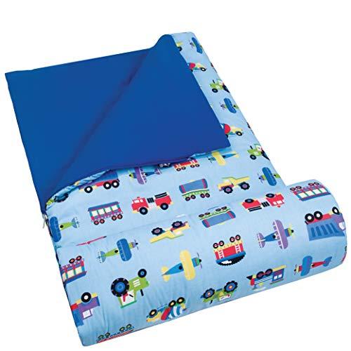 Wildkin Kids Original Sleeping Bag for Boys and Girls, Features Elastic Storage Strap & Storage Bag,...