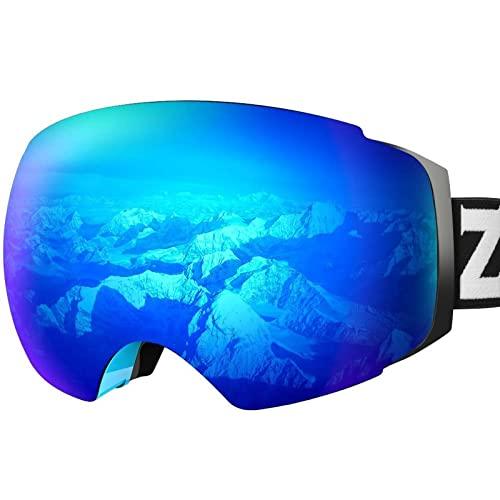 ZIONOR X4 Ski Goggles Magnetic Lens - Snowboard Goggles for Men Women Adult - Snow Goggles Anti-Fog...