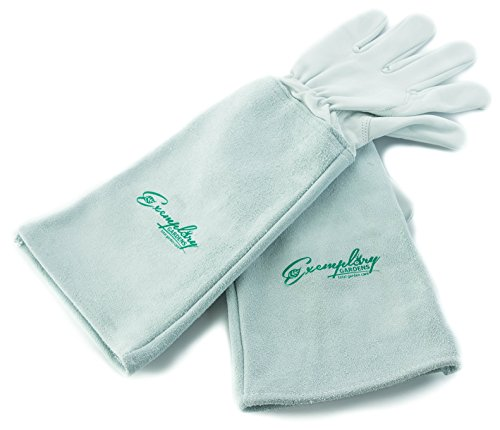 Rose Pruning Gloves for Men and Women. Thorn Proof Goatskin Leather Gardening Gloves with Long...