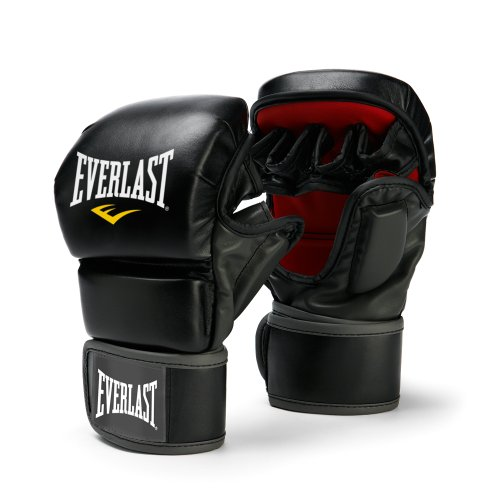 Everlast 7773LXL Train Advanced MMA 7-Ounce Striking/Training Gloves (Black, Large/X-Large)