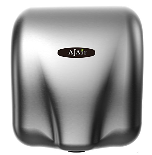 AjAir 1 Pack Heavy Duty Commercial 1800 Watts High Speed Automatic Hot Hand Dryer - Stainless Steel...