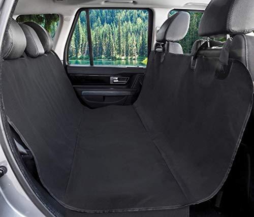 BarksBar Original Pet Seat Cover for Cars - Black, WaterProof & Hammock Convertible (Standard,...