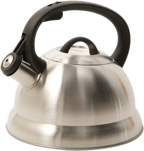 Mr. Coffee Flintshire Whistling Tea Kettle, 1.75-Quart, Stainless steel