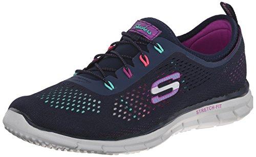 Skechers Sport Women's Harmony Fashion Sneaker,Navy/Multi,7.5 M US