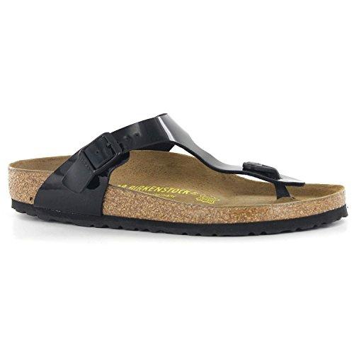 Birkenstock Women's GIzeh Thong Sandal, Black Patent, 40 M EU/9-9.5 B(M) US