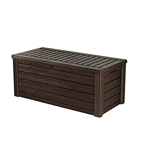 Keter Westwood 150 Gallon Resin Large Deck Box-Organization and Storage for Patio Furniture, Outdoor...