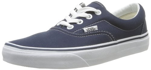 Vans VEWZNVY Unisex Era Canvas Skate Shoes, Navy, 5 B(M) US Women / 3.5 D(M) US Men